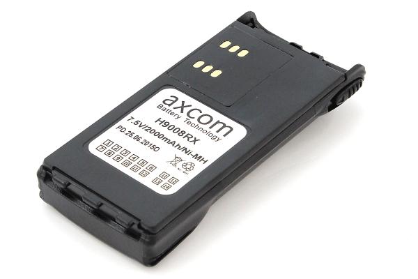 Etikett des H9008RX - Axcom Akku für Motorola GP140/320/GP340/GP360/GP380