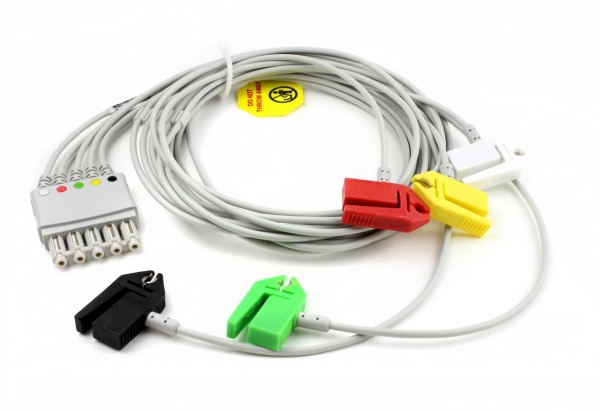 EKG Patientenkabel für Philips, 1m, mit IEC Clips LA,RA,V