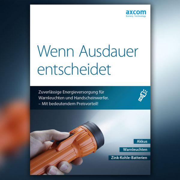 Jetzt mitbestellen: Katalog Akkus für Handscheinwerfer