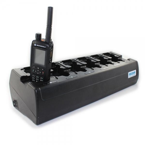 6+6-Stationen Ladegerät inkl. Adapter für MTP6650