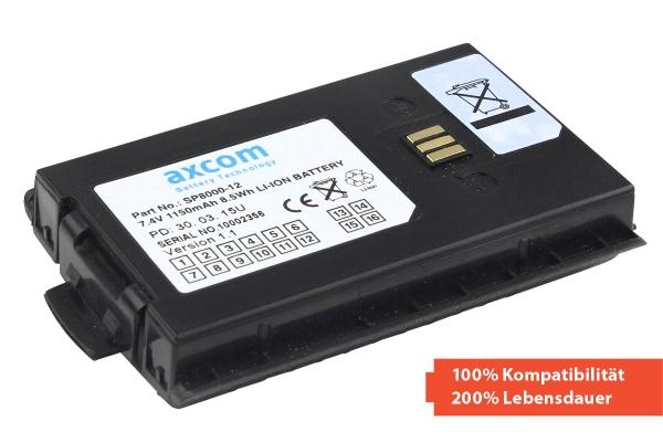 Der einzige Li-Ion Akku für Sepura STP8000/9000/SC20; 7,4V/1,2Ah
