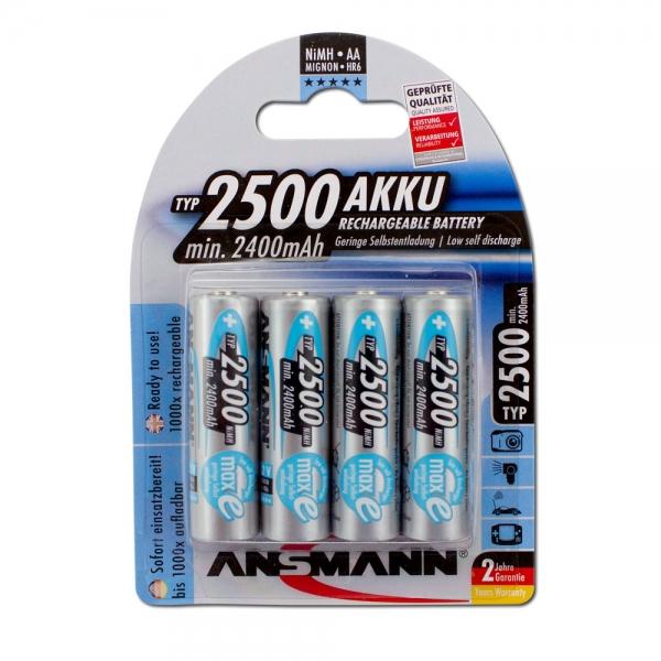 Ansmann 4er Pack NiMH Mignon/AA - 1,2V/2.500mAh