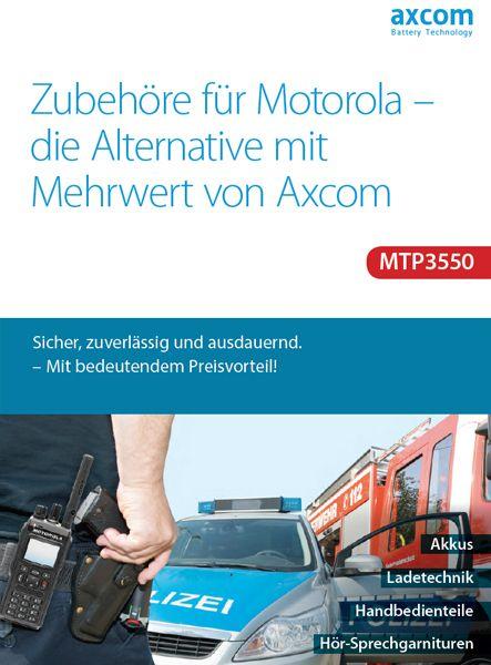 Axcom Zubehör-Katalog für das Motorola Funkgerät MTP3550