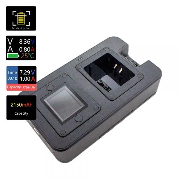 Tischladegerät mit LCD-Anzeige Lade und Entladefunktion, Temperaturanzeige MTP6650